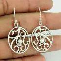 Turquoise Gemstone Silver Earrings