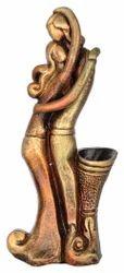 Decorative Terracotta Couple Vase/Pen Stand