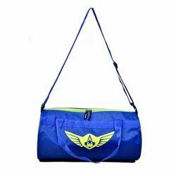 Auxter Blue Printed Gym Duffel Bag