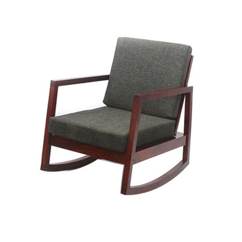 Designer Sheesham Wood Rocking Chair With Cushion