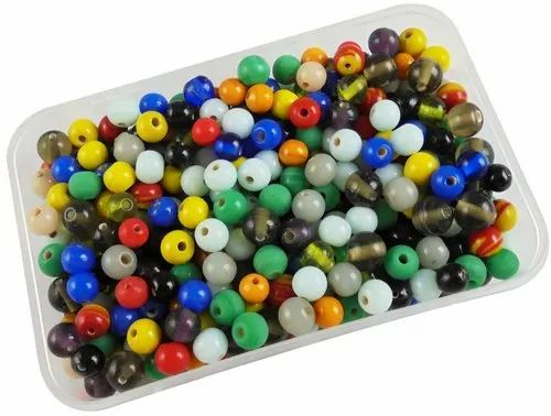 Eshoppee 8mm Or 10mm Round Glass Beads Mix Colors