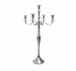 Premium 31.5 Inch 5 Arm Candelabra Candle Stand In Mirror Polish Finish