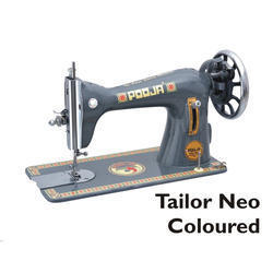 Manual Pooja Tailor Neo Coloured Sewing Machine, For Household