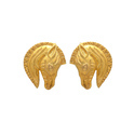 Sea Horse gold Plated Elegant Vermiel Jewelry Earring Stud