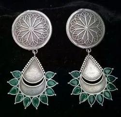 19 gm Silver Look Alike Brass Earrings