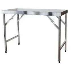 Stainless Steel also available in Mild Steel Rectangular Stainless Steel Dining Table, for Restaurant