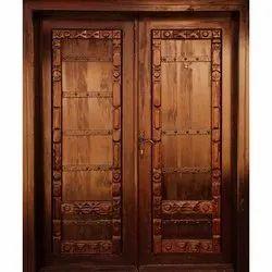 Teak Wood Exterior Designer Wooden Door