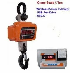 Crane Scale 5 Ton With Wireless Indicator With USB Storage With Rs232