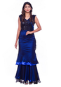 Western Royal Blouse Sequinned Evening Gown