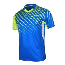 Multicolor Half Sleeves Mens Polyester Sports Wear T Shirt, Size: S-XXL, Packaging Type: Packet