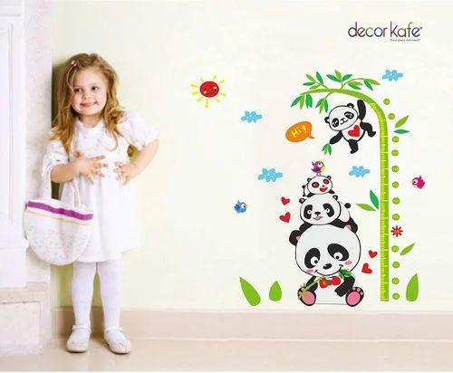 Decor Kafe Panda Height Measure Waterproof Baby Bedroom Wall Stickers