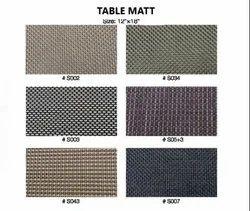 Multicolor Plastic Table Matt, 6pcs, Size: 12x18