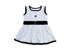 PRACHALAN Casual Wear Baby Girl white dress