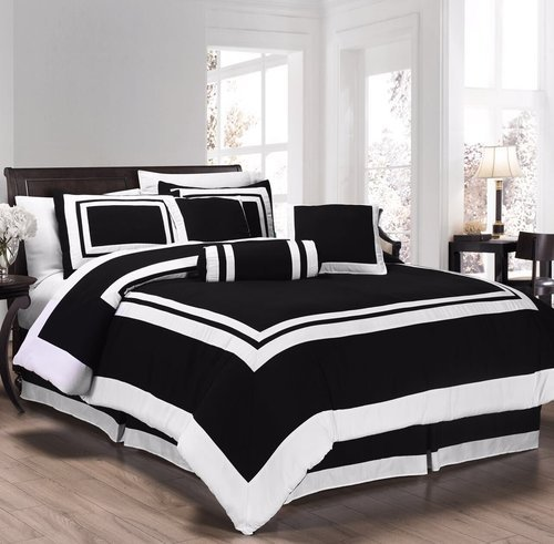 White And Black Hotel Quality Bed Linen