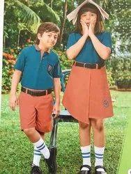 Shyamjee Summer Cotton Kids School Uniform, Size: S,M