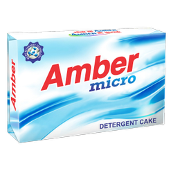 White Amber Micro Detergent Cake, Packaging Type: Packet
