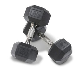 Rubbwr And Stainless Steel Hexagon Gym Dumbbell