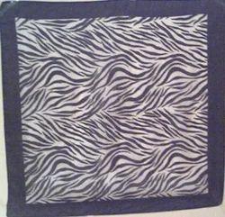 Zebra Printed Tabby Bandana