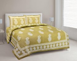 Jaipuri Print Bedsheets for Double Bed Cotton