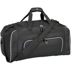 Leather Black Traveling Bag, Size: 24 inch x12 inch x12 inch