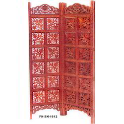 REAL ART AND CREATION Carved Wooden Partition Screen
