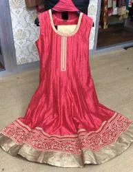 Silk chanderi Anarkali Suits for ladies