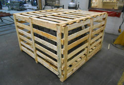 Cuboid Rubber Wood Engine Wooden Packing Crate, for Packaging, Shipping