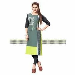 Stylish Straight Digital Printed Kurti