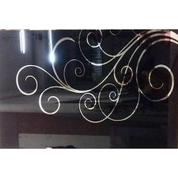 Black Printed Lacquered Glass