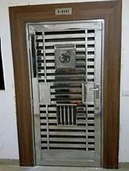 Stainless Steel Security Door, Size: 7 X 3 Ft
