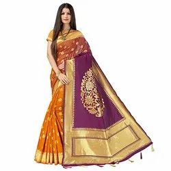 J30 Ladies Wedding Wear Khadi Silk Saree