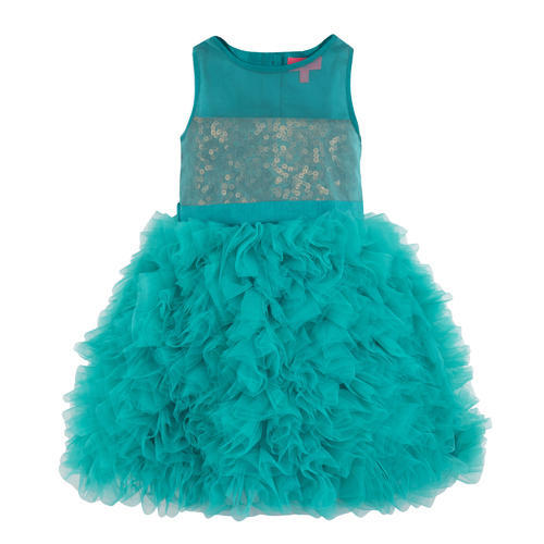 af7de152a Kids Polyester   Net Party Wear Fashion Dress
