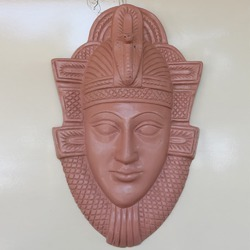 Egyptian Face Wall Hanging In Sand Color