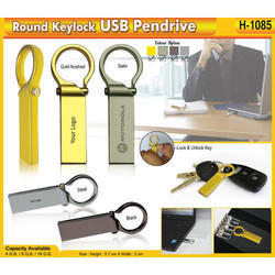 Round Keylock USB Pendrive H-1085