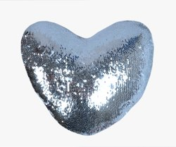 Silver Magic Cushions Heart Sublimation Printable Blanks Light Weight Blind Zipper