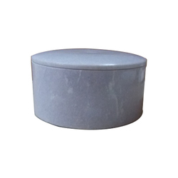White Marble Round Large Boxes