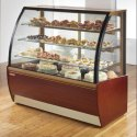 Wooden Finish Cake Display Counter