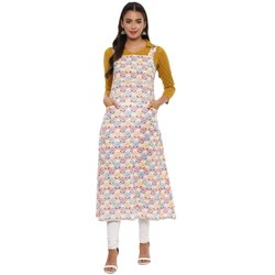 Yash Gallery Womens Cotton Floral Print Long Dangri Kurta
