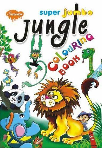 Super Jumbo Jungle Colouring Books