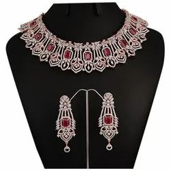 Brass And Copper Alloy Party Ladies Artificial Necklace Set