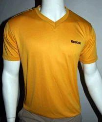 Yellow V-Neck Men T Shirts