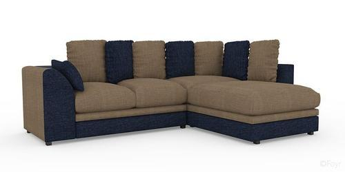 Corduroy Grey Blue Best L Shape Sofa Set Damro Product Rs 60000 Pair Id 14233538388