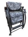 Folding Gravity Reclining Rocking Chair- Grey Flowers