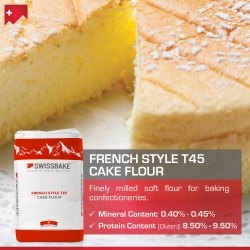 SwissBake T45 French Style Cake Flour, Packaging Type: Packet, Packaging Size: 20 kg