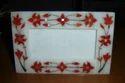 White Marble Inlay Decorative Tray