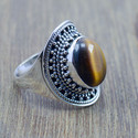 925 Sterling Silver Tiger Eye Gemstone Fine Ring Wr-5240