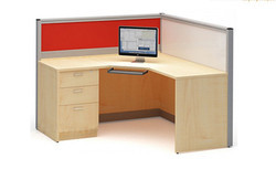 Office Modular Workstation L Type 60MM Staff Table