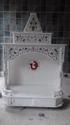 2 Feet Indoor Makrana White Marble Temple