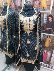 Art Silk Bandhej Suit