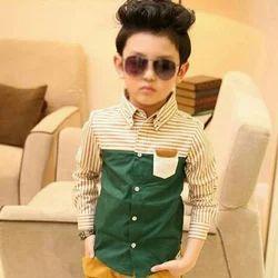 Cotton Regular Wear, Party Wear Fancy Kids Shirt